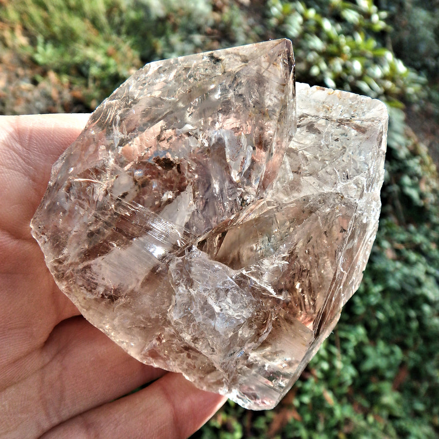 Unique Character Clear & Smoky Elestial Quartz From Brazil