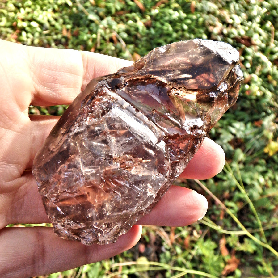 Fantastic Growth Patterns  Elestial Smoky Quartz From Brazil