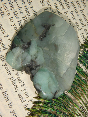 Wonderful Emerald Hand Held Slice Specimen 2 - Earth Family Crystals