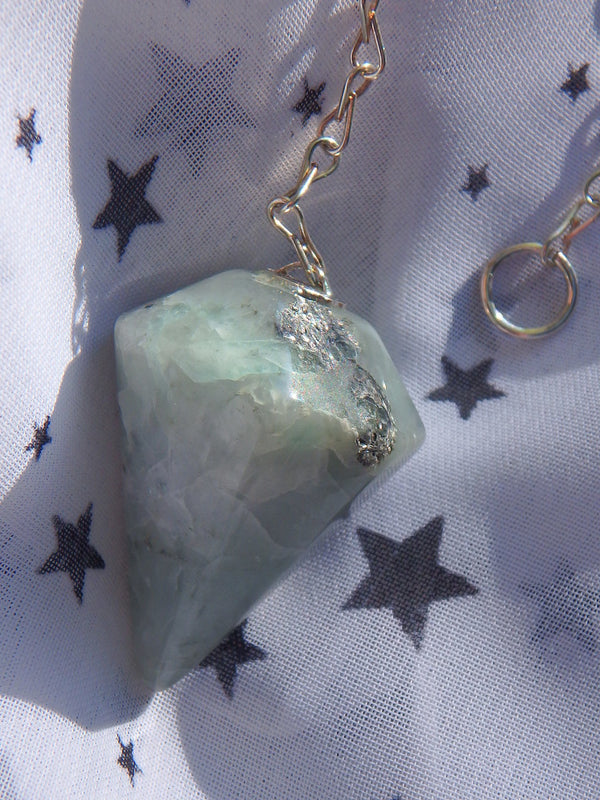 Pastel Green Emerald Pendulum - Earth Family Crystals