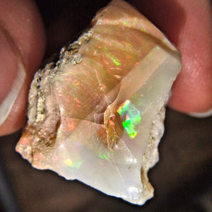 Mesmerizing Sparkles of Flash Ethiopian Opal Raw Specimen