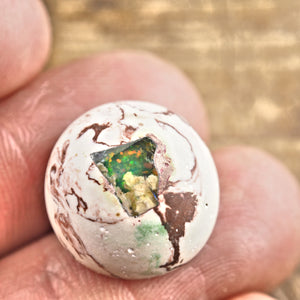 Sparkling Mexican Fire Opal Button Cabochon #2