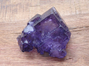 Gorgeous Midnight Purple Fractal Fluorite Specimen - Earth Family Crystals