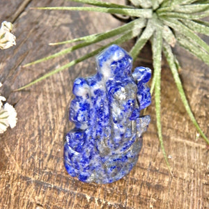 Lapis Lazuli Ganesha Dainty Carving- The Remover of Obstacles