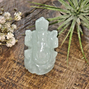 Mint Green Aventurine Ganesha Dainty Carving- The Remover of Obstacles