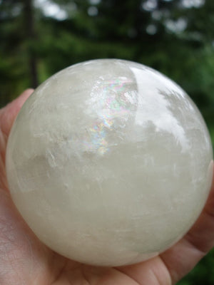 3 Lb Jumbo Golden Calcite Rainbow Frenzy Sphere - Earth Family Crystals