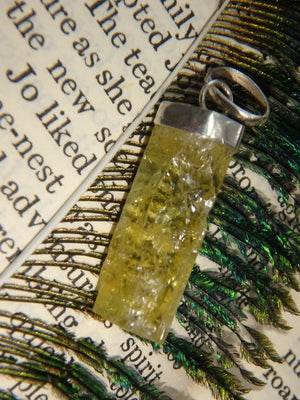 Liquid Sunshine! Golden Heliodor Pendant in Sterling Silver (Includes Silver Chain) - Earth Family Crystals