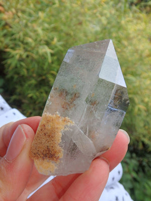 Brilliant Brazilian Green Chlorite Quartz  Point Specimen - Earth Family Crystals