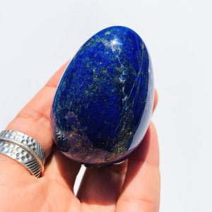 Beautiful Medium Lapis Lazuli Egg Carving #3