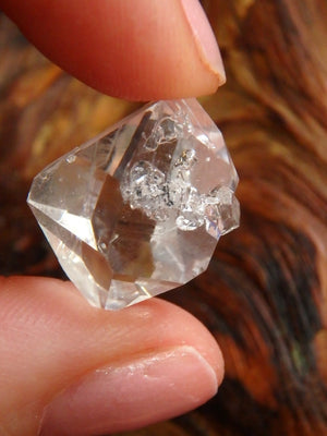 Ice Clear NY Herkimer Diamond With Attached Baby - Earth Family Crystals