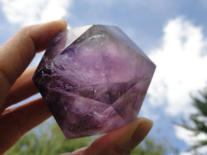 AMETHYST ICOSOHEDRON Sacred Geometry Shape - Earth Family Crystals
