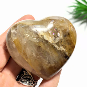 Brilliant Golden Hematoid Quartz Love Heart~Locality Madagascar
