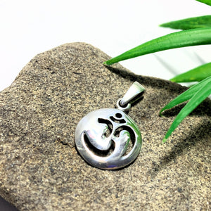 OHM Dainty Sterling Silver Pendant