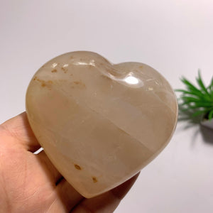 Orange Glow Hematoid Quartz Love Heart~Locality Madagascar