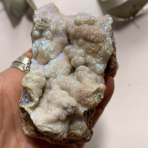 Incredible Sparkle! Missouri Druzy Angel Aura Infused Quartz Cluster Specimen #1