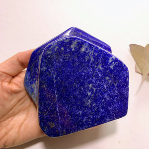 High Grade~ Deep Blue Lapis Lazuli & Pyrite Included Large Standing Display Specimen