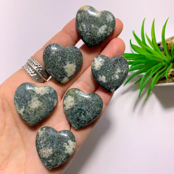 One Rare Preseli Bluestone Heart Carving From Wales, UK