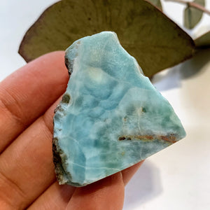 Cute Unpolished Larimar Handheld Specimen From The Dominican #11 - Earth Family Crystals