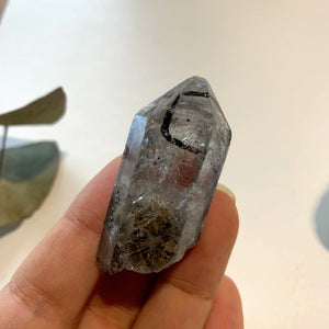 Moving Black Fragment Natural Tibetan Quartz Point