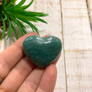 Amazonite Small Heart Carving