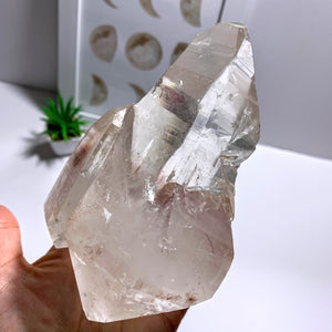 Rare & Incredible Double Terminated Mom & Baby XL Lemurian Seed Quartz From Minas Gerais, Brazil