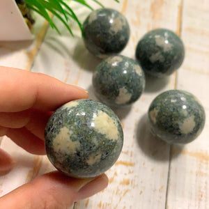 One Preseli Bluestone Sphere Carving From Wales, UK