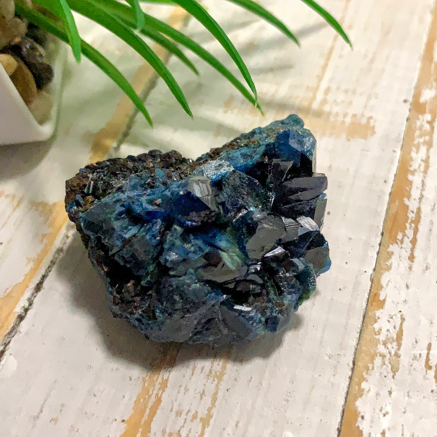 Rare Deep Blue Lazulite Crystal Specimen From Rapid Creek, Yukon, Canada #1