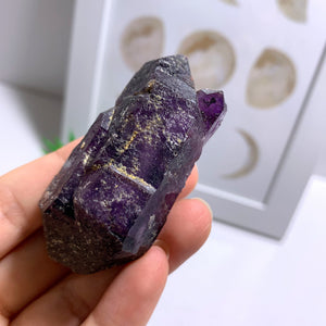 Double Terminated Deep Purple Brandberg Amethyst Elestial Point From Namibia