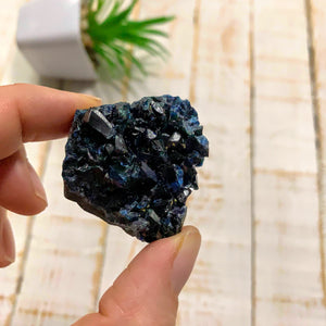 Rare Deep Blue Lazulite Crystal Specimen From Rapid Creek, Yukon, Canada #4