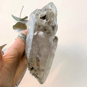 Incredible Vibrations~XL Samadhi Himalayan Quartz Elestial Cluster With Chlorite Cloud Inclusions & Self Healing