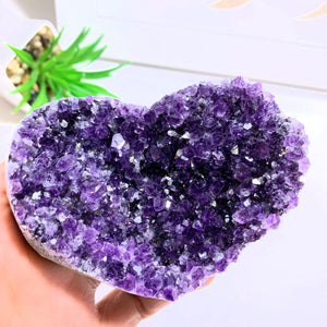 Amethyst Large & Beautiful Druzy Love Heart~ Locality Uruguay #5