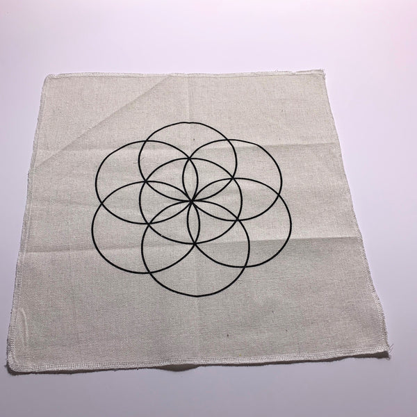 Seed of Life Sacred Geometry Cloth Crystal Grid