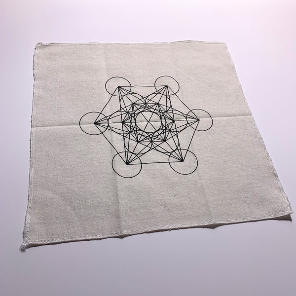 Metatron's Cube Sacred Geometry Cloth Crystal Grid