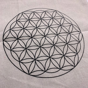 Flower of Life Cloth Crystal Grid