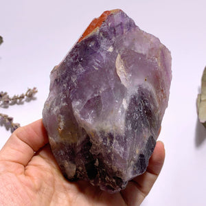 Genuine Auralite-23 Red Hematite & Record Keeper Capped Large Point From Ontario, Canada
