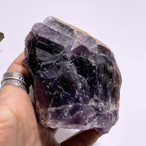 Genuine Auralite-23 Red Hematite Capped Large Point From Ontario, Canada