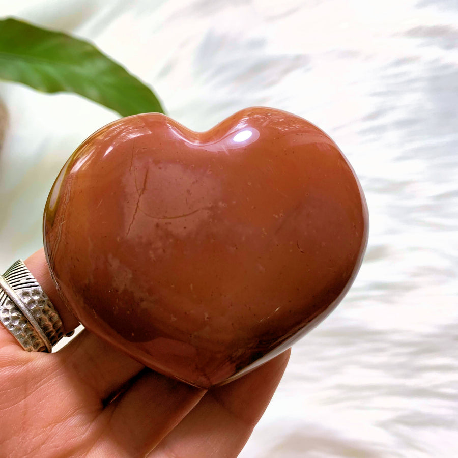 Polychrome Jasper Love Heart Carving From Madagascar