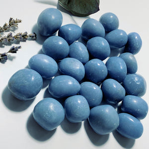 Set of 2~Creamy Blue Angelite Tumbled Stone From Peru