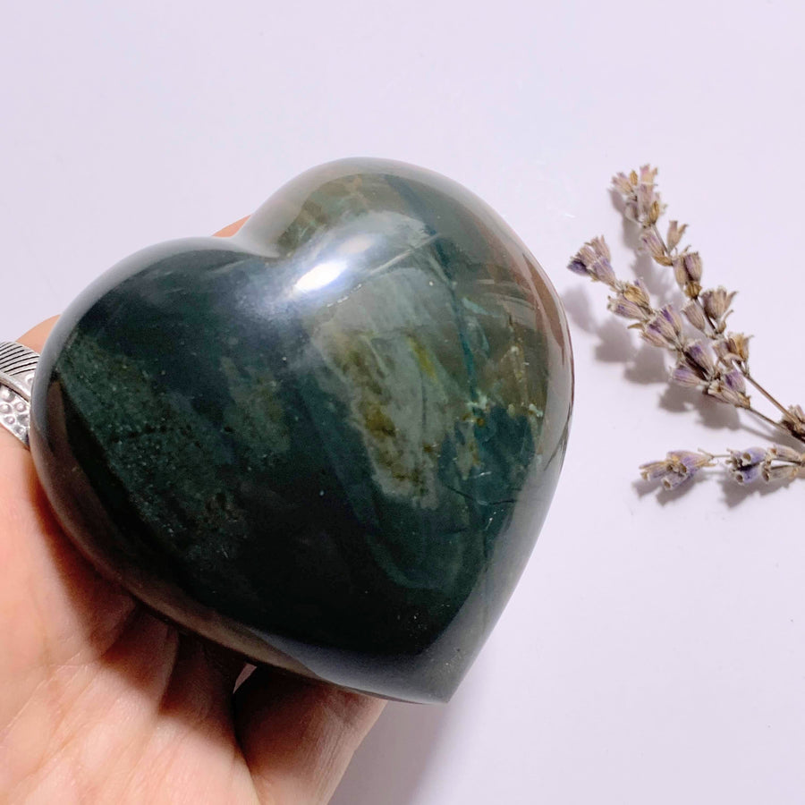 Fabulous Colors Polychrome Jasper Puffy Heart ~Locality Madagascar