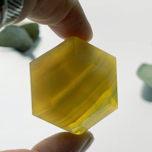 Golden Glow Polished Yellow Fluorite Carving