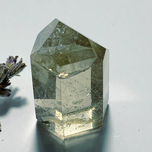 Inner Child Penetrator Points Smoky Rutilated Quartz Small Tower~Locality Brazil