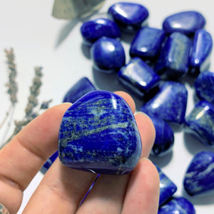 One High Quality Cobalt Blue Lapis Lazuli Tumbled Stone