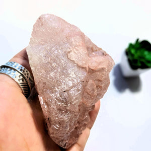 Natural Frosty Pink Large Nirvana Ice Quartz Specimen~Locality Himalayas - Earth Family Crystals