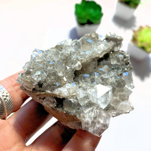 Sparkling Natural Clear Calcite With Caves & Chalcopyrite Inclusions From Linwood Mine, NY