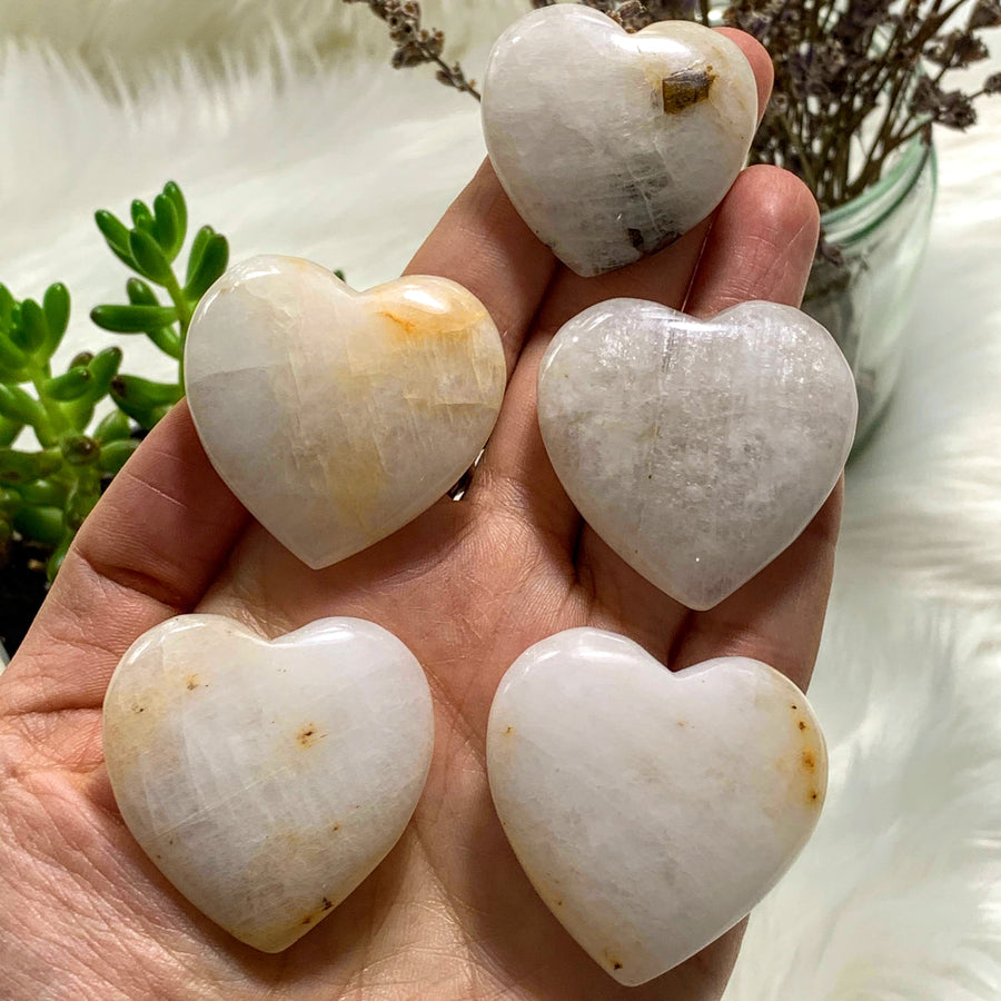 One Genuine Cryolite Heart Carving From Greenland