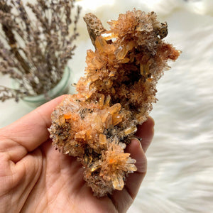 Incredible Rare Creedite Large Orange Natural Specimen~Locality Mexico