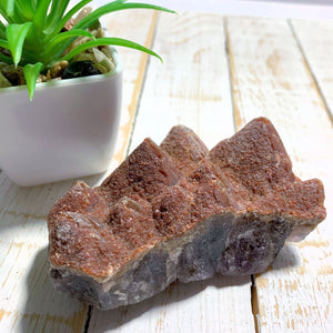 Gorgeous Red Amethyst Multi Peek Point Mountain Specimen From Brazil - Earth Family Crystals