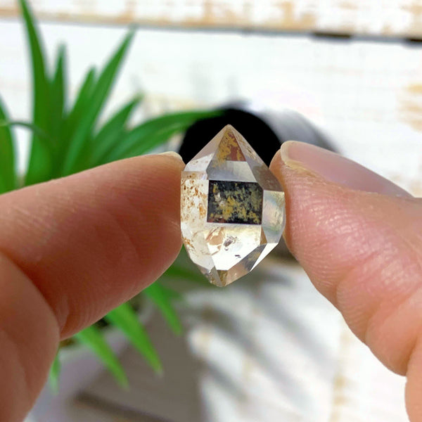 Gemmy Brilliant New York Herkimer Diamond in Collectors Box #1