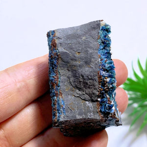 Rare Deep Blue Lazulite Double Sided Crystal Specimen From Rapid Creek, Yukon, Canada #3
