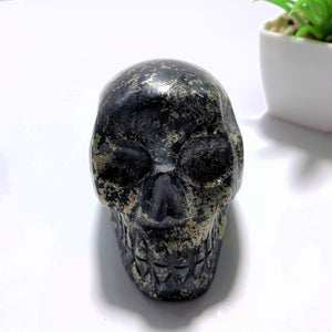 Rare Stone~Healers Gold Skull Carving Specimen From Arizona